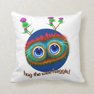 Scottish Hoots Toots Haggis Throw Pillow