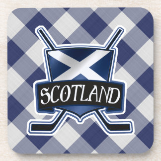 Scottish Ice Hockey Flag Drinks Coasters