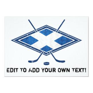 Scottish Ice Hockey Flag 5x7 Paper Invitation Card