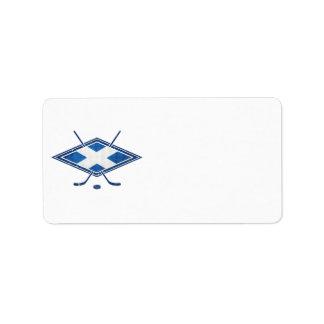 Scottish Ice Hockey Flag Address Label