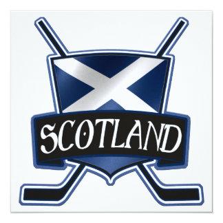 Scottish Ice Hockey Flag Logo Card