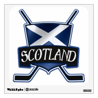 Scottish Ice Hockey Flag Logo Wall Decal