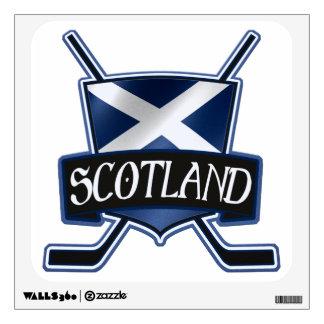Scottish Ice Hockey Flag Logo Wall Decal