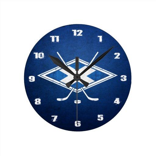 Scottish Ice Hockey Round Wall Clock Zazzle