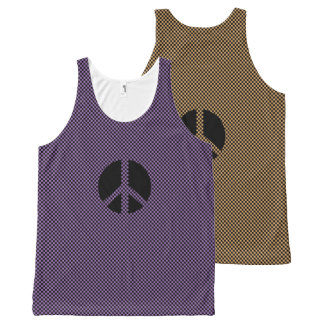 Scottish Independence Anti Nukes Check All-Over-Print Tank Top