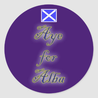 Scottish Independence Aye for Alba Flag Sticker Stickers