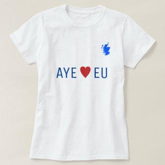 Scottish Independence Aye Heart EU T-Shirt