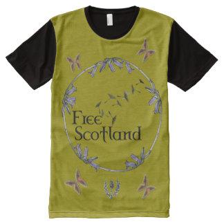 Scottish Independence Bluebell Butterflies T-Shirt All-Over Print T-shirt