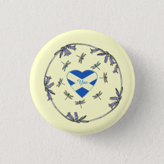 Scottish Independence Bluebells Dragonflies Badge Pinback Button