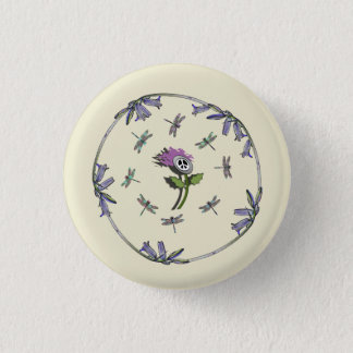 Scottish Independence Bluebells No Trident Badge Button