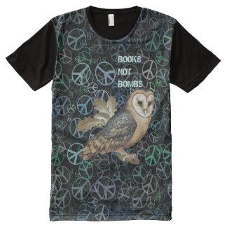 Scottish Independence Books Not Bombs Owl Art Tee