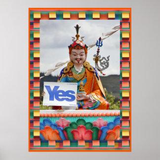 Scottish Independence Buddhist Yes Poster
