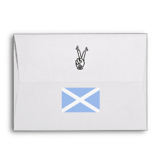 Scottish Independence Butterfly Peace Sign Flag Envelope