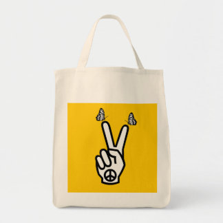 Scottish Independence Butterfly Peace Symbol Tote