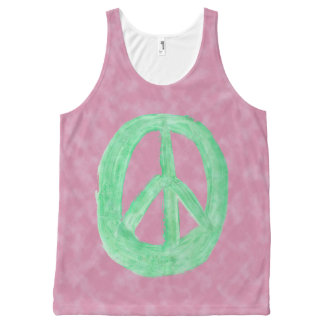 Scottish Independence CND No Nukes Tie Dye All-Over-Print Tank Top