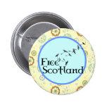 Scottish Independence Dandelion Badge Button