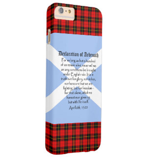 Scottish Independence Declaration of Arbroath Flag Barely There iPhone 6 Plus Case