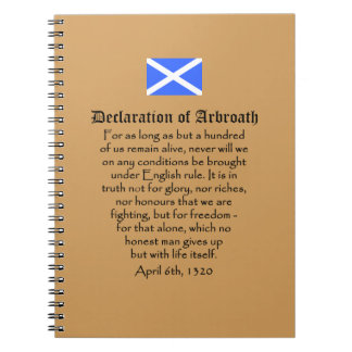 Scottish Independence Declaration of Arbroath Text Spiral Notebook