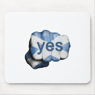 Scottish Independence Fist Mouse Pad