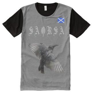 Scottish Independence Gaelic Saorsa Bird T-Shirt