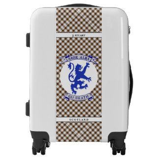 Scottish Independence Gaelic Tartan Plaid Luggage