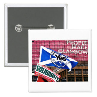 Scottish Independence Glasgow Solidarity Badge 2 Inch Square Button