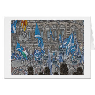 Scottish Independence Hope over Fear Rally Card