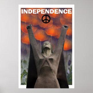 Scottish Independence La Pasionaria Poppy  Poster