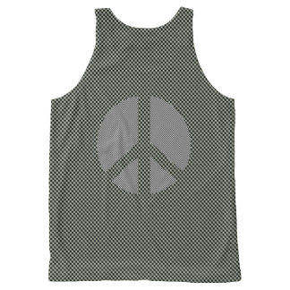 Scottish Independence No Nukes Check Symbol All-Over-Print Tank Top