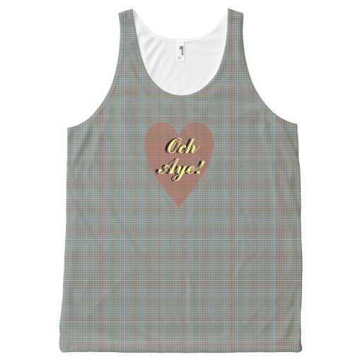Scottish Independence Och Aye Heart All-Over Print Tank Top Tank Tops, Tanktops Shirts