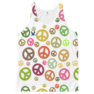Scottish Independence Peace Symbol Dove All-Over-Print Tank Top