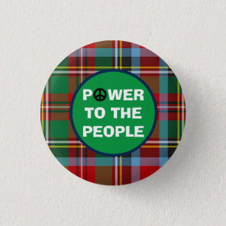 Scottish Independence People Power Pinback Button