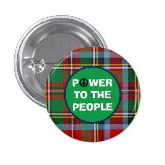 Scottish Independence People Power Pinback Button