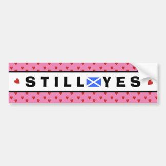 Scottish Independence Pink Still Yes Bumper Sticker