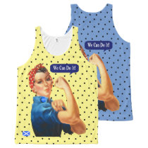 Scottish Independence Polka Dot Rosie Tank Top