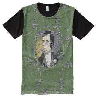 Scottish Independence Rabbie Burns Bluebell Art All-Over Print T-shirt