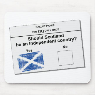 Scottish Independence Referendum Question Mouse Pad