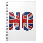 Scottish independence referendum - vote no spiral note book