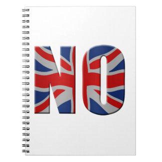 Scottish independence referendum - vote no notebook