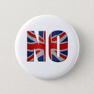 Scottish independence referendum - vote no pinback button