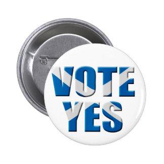 Scottish independence referendum - vote yes button