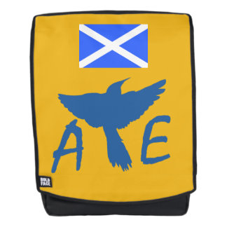 Scottish Independence Saltire Aye Bird Backpack