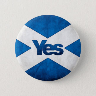 Scottish Independence - Saltire Yes Badge Button