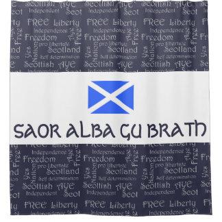 Scottish Independence Saor Alba Gu Brath Flag Shower Curtain