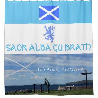 Scottish Independence Saor Alba Gu Brath Time Shower Curtain