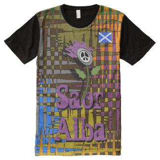 Scottish Independence Saor Alba Nuked Thistle Tee