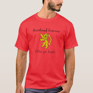 Scottish Independence Scotland Forever Lion Tee