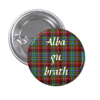Scottish Independence Tartan Alba Gu Brath Pinback Pinback Button