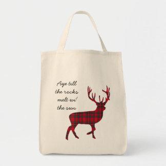 Scottish Independence Tartan Stag Aye Bag