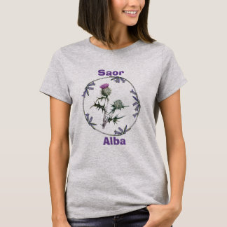 Scottish Independence Thistle Bluebell Flowers T-Shirt